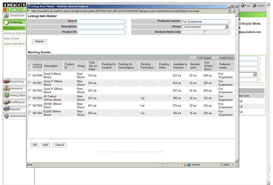 Purchasing and Inventory Control Software - SmartTurn